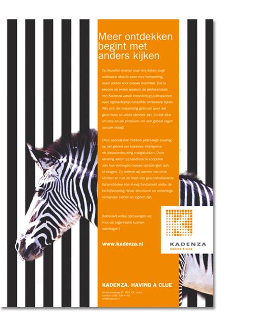 Imagocampagne voor Kadenze, The Smart Data Company